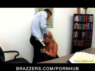 Incredibly Hot Big-tit Blonde Boss Dayna Vandetta Fucks Employee