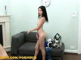 Fakeagent Hd Raven Hair Amateur Gets Spunk In The Eye