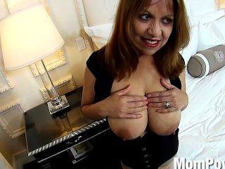 Latina Milf Huge Natural Tits Behind The Scenes