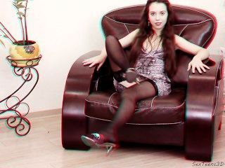 Flexible Teen Posing And Spreading Her Legs On A Sofa - 3d Hd Backstage