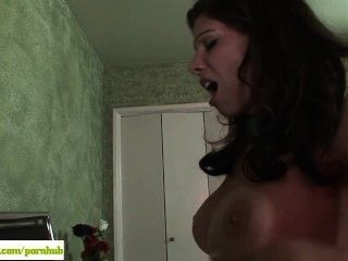 Busty zippered babe rides sybian in the air 8