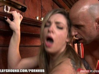 Blonde Beauty Bailey Blue Shows Off How To Ride Like A Cowgirl