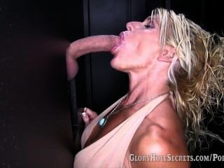 Gloryhole Secrets Gina Gives Blowjobs To 6 Strangers And Swallows Their Cum
