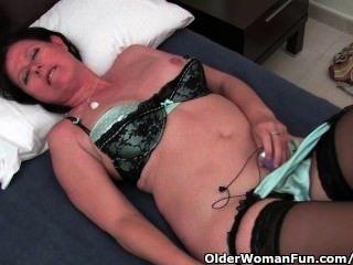 Hirsute Mother I In Stockings Screwed