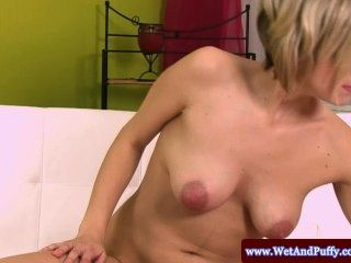 Puffy Peach Blondes Piss And Pussy Pump