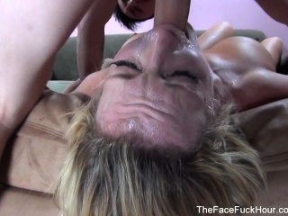 Busty Whore Sucks A Hard Cock