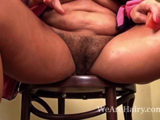 Hairy Blonde Lariona Enjoys A Juicy Sensual Treat