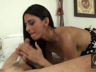 Hot Brunette Loves A Vibrating Cock