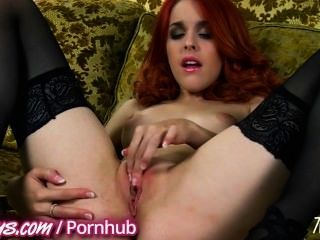 Sexy Redhead Plays With Herself