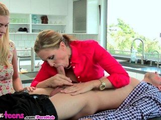 Moms Bang Teens - Milf Shows Young Couple How To Fuck