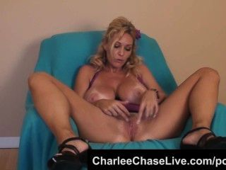 Bit Tit Tampa Milf Charlee Chase Purple Dildo Pussy Play