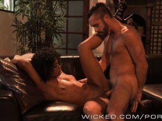 Wicked - Sexy Ebony Babe Misty Stone Loves Sucking Cock