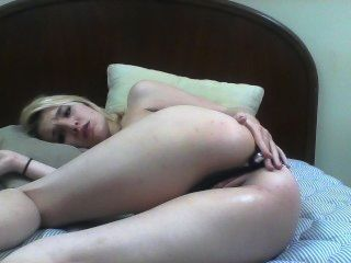 Blonde Teen Loves Ass Fingering.