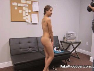 Fakeproducer Tricks Petite Latina Into A Blowjob At Casting Audition