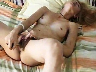 Blonde Girl Can Hardly Handle Her Toy