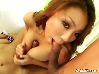 Busty Japanese Babe Gives The Perfect Handjob And Tits Job Ever