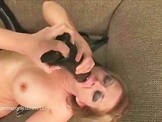 Claire Fucking Kylee With A Huge Strapon Dildo