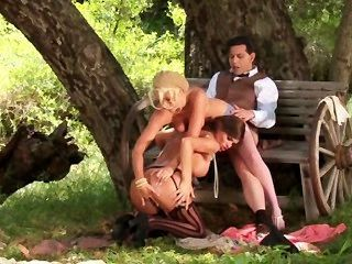 Sexy Threesome In The Countryside
