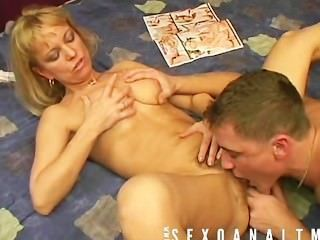 Mature Blonde Likes Beying Fucked Up By Her Boy