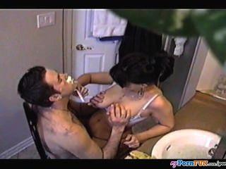 Colette Fucks Her Man While Shaving His Beard