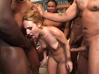 Whore interracial white