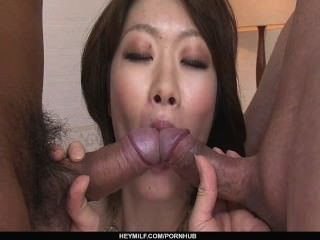 Rio Kagawa Orders A Double Creampie After Her Dp