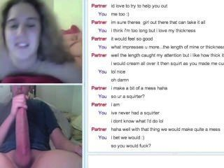 Girl Finds Guy Bigger Than Her Bf On Omegle And Cybers With Him