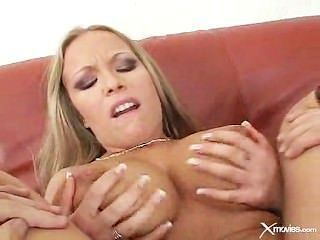 2 Natural Big Breasted Blondes Get Fucked