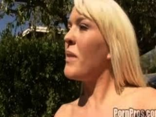 Nasty Bitch Krizzy Lynn Gets Her Round Ass Pounded