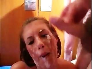 Brit Babe Drenched In Cock-snot
