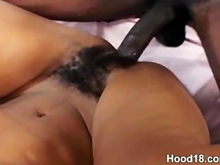 Cute Next Door Black Teen Enjoying Some Hard Cock Inside Her
