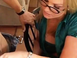 Flower Tucci Has Fun With Her Assistant