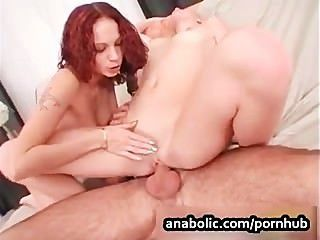 Redhead And Blond Ass Fucked And Full Of Cum