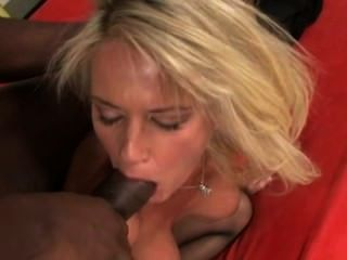 Hot Blonde Having Interracial Sex