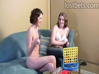 Ashley And Kala Play Strip Four In A Row