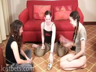 Elizabeth, Julie And Lily Play Spin The Bottle