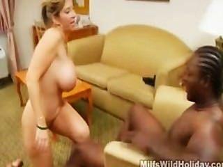 Busty Milf Sara Jay Takes On A Black Stud