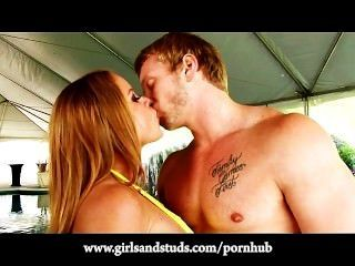 Jock Gets A Great Blowjob From Sexy Amateur Redhead