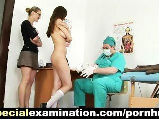 Embarassing Gyno Exam For Shy Brunette Babe