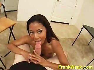 Filipina Babe Lily Thai Takes A Nice Load In Her Mouth