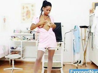 Hot Latina Nurse Internal Pussy Cervix Closeups