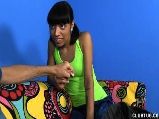 Naughty Teen Jerks Off Her Step-uncle