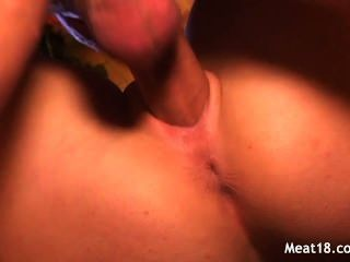 Hot Blonde Teen Sits On A Penis And Rides It Deep Down