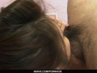 Yurika Gotou In Fishnet Widen Her Legs Before Her Boyfriend
