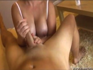 Busty Neighbor Handjob