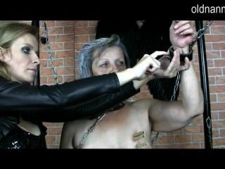 Mature Domina Doing Bdsm Games With Granny
