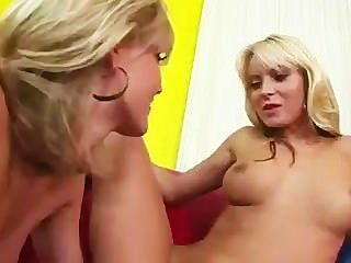 Two Blondes Tasting Each Other