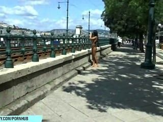 Sweet Bailey Shows Her Sexy Naked Body On Public Streets