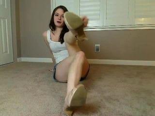 Beautiful Girl Feet Pov