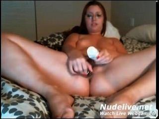 Webcam Masturbation - Super Hot Chubby Milf With Glass Dildo